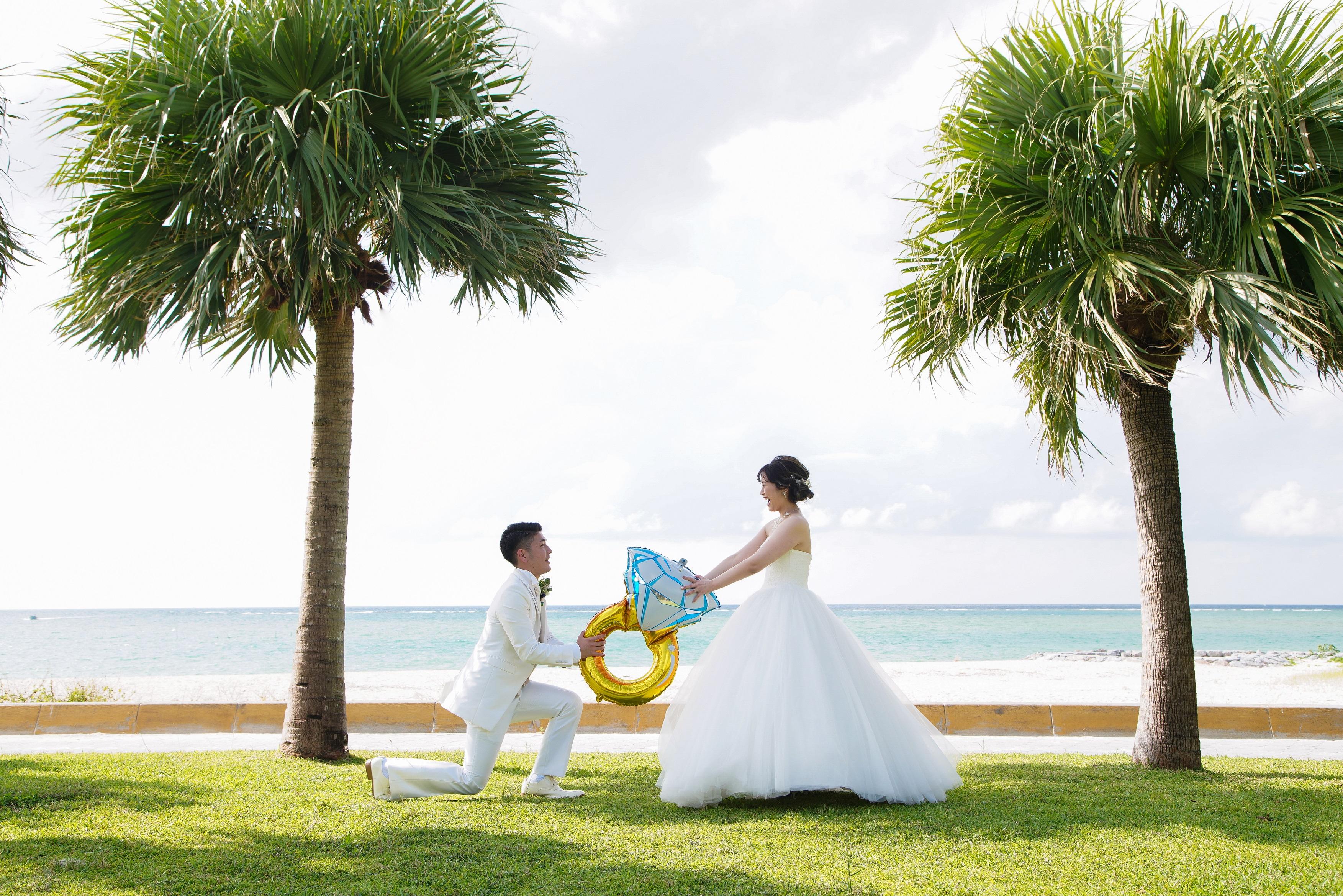 青い海と青い空の下で2度目のプロポーズ♡