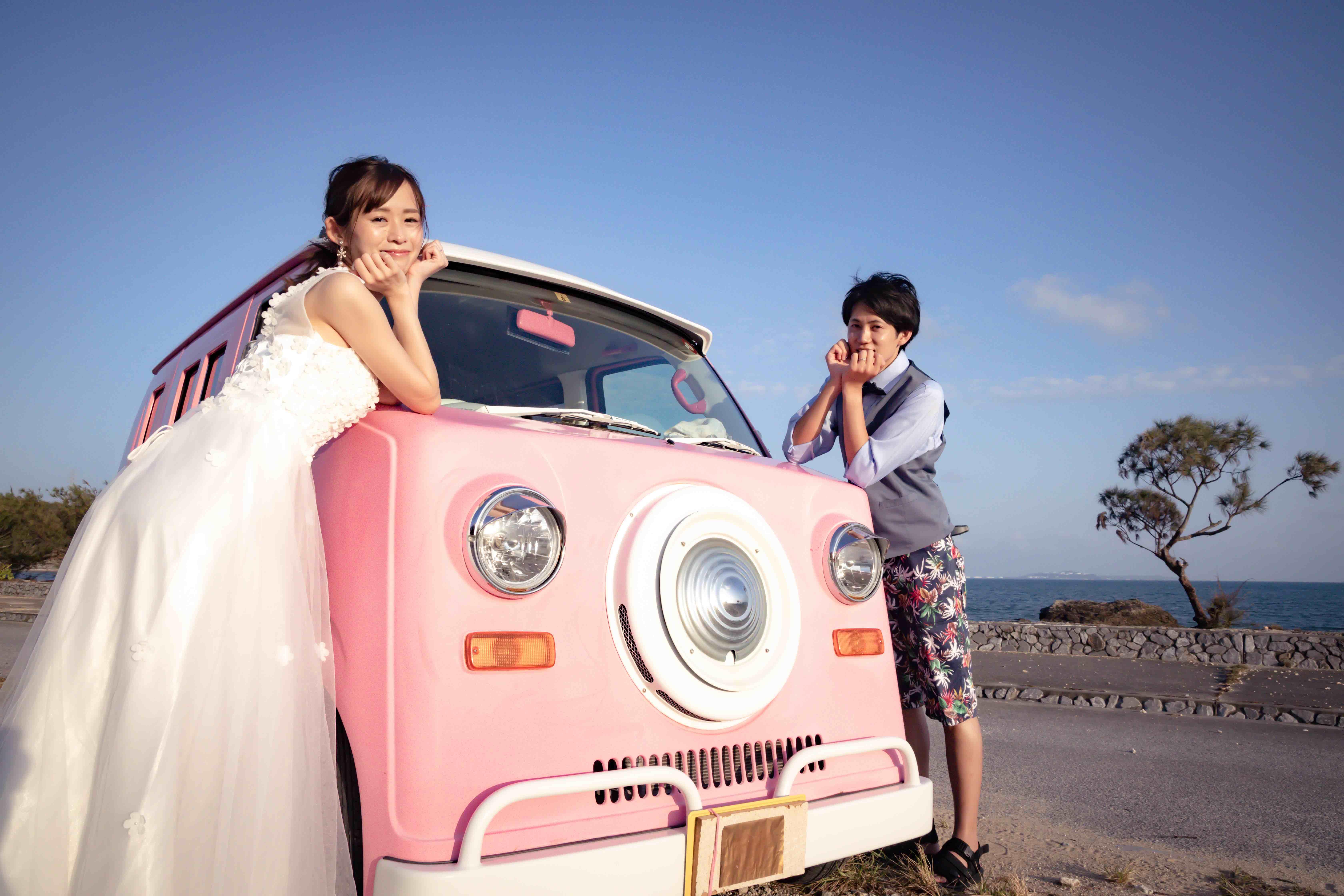ピンクカーと撮影も可愛いのフォトギャラリー